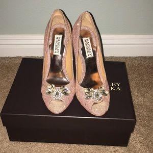 Rosegold Badgley Mischka Heels